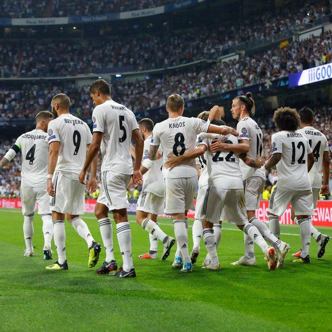 UEFA Champions League Group G Classification after Matchday 1 Points 1) Real Madrid 3 2) CSKA Moscow 1 3) Viktoria Plzen 1 4) Roma 0 #HalaMadrid Photo
