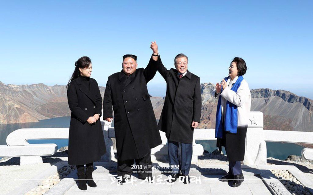 Last September I was writing about North Korea's sixth nuclear test, of a hydrogen bomb no less. This September: The leaders of the two Koreas are standing together on the mythical home of the Korean people. You can be skeptical and still say that this is a welcome development