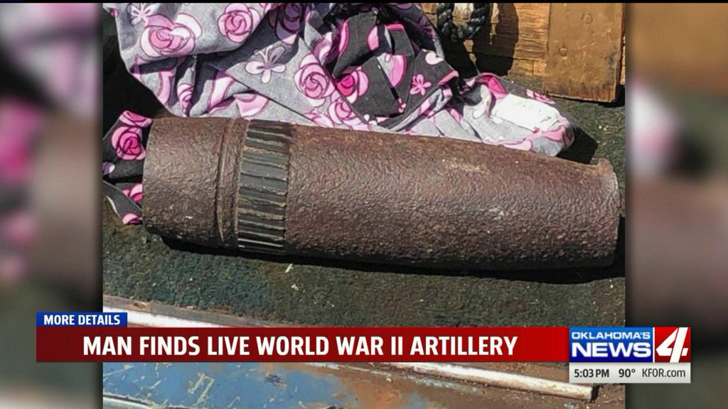 Man in Tillman County finds live artillery and keeps it for days https://t.co/VvpK0dIthw