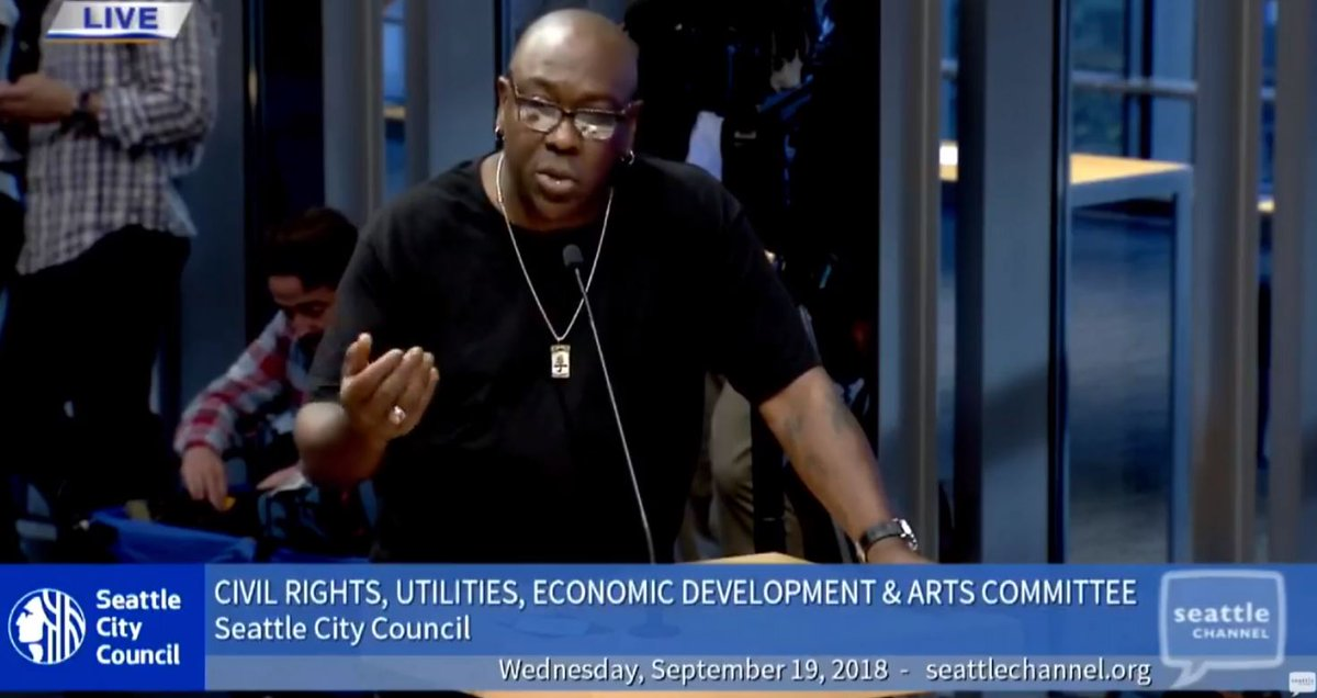 WATCH LIVE: Seattle council hearing on fight to 'Save the Showbox' music venue from demolition >>    Seahttps://t.co/dlGynDQixlttle musician  just @teewanzspoke at the public hearing