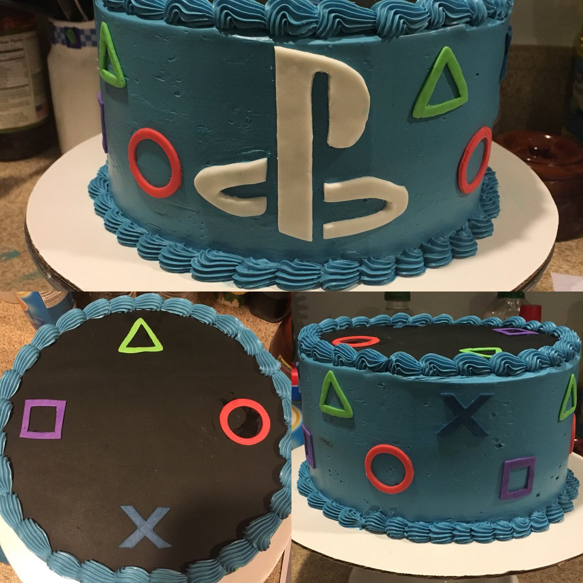 Gabs On Twitter My PlayStation Cake Playstation4 Sony Playstation Swissbuttercream Fondant Bakingandpastry