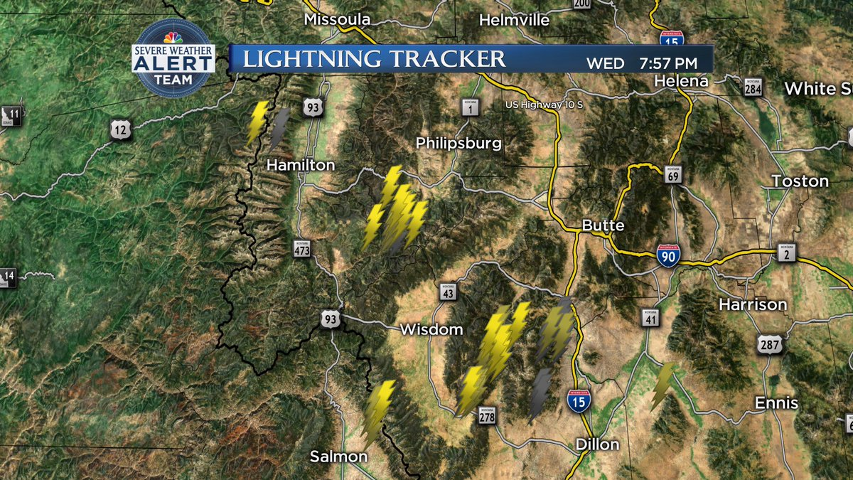 Sapphire Mountains Montana Map.Nbc Montana On Twitter Lightning Strikes Are Being Detected In The