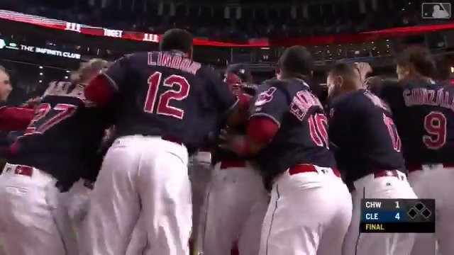 They may have clinched, but the @Indians aren't letting up. #TipOfTheCap https://t.co/ZlI790fTR0