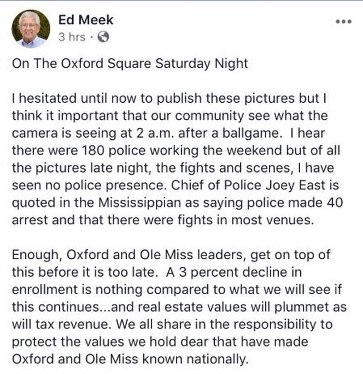 Man whose name is on Ole Miss School of Journalism accused of racist Facebook post #wmc5 >>https://t.co/PKT2fS1Xg0