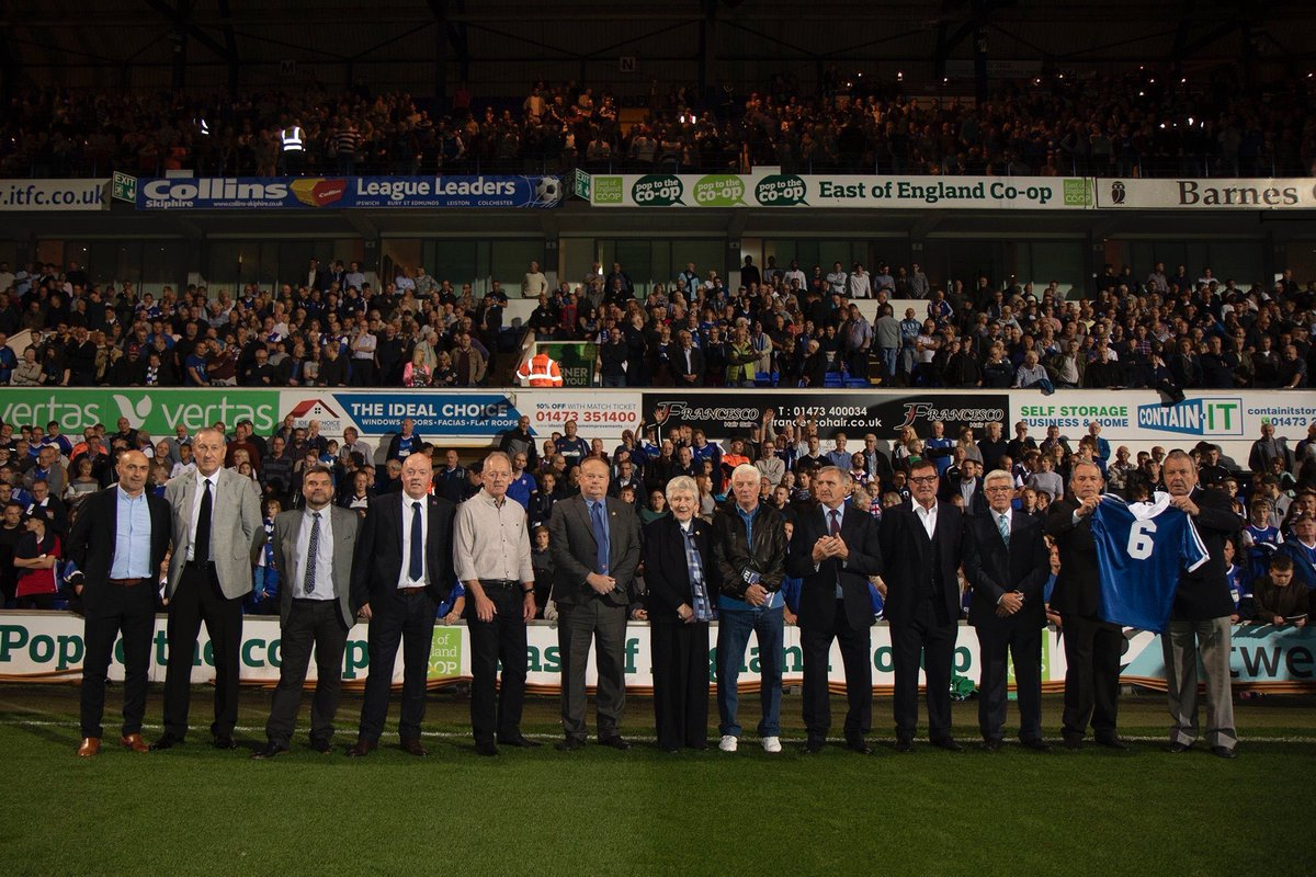 Honoured to be part of the ITFC Ex-Players Association as we paid tribute to one of our own. RIP Kevin Beattie #ITFCLEGEND
