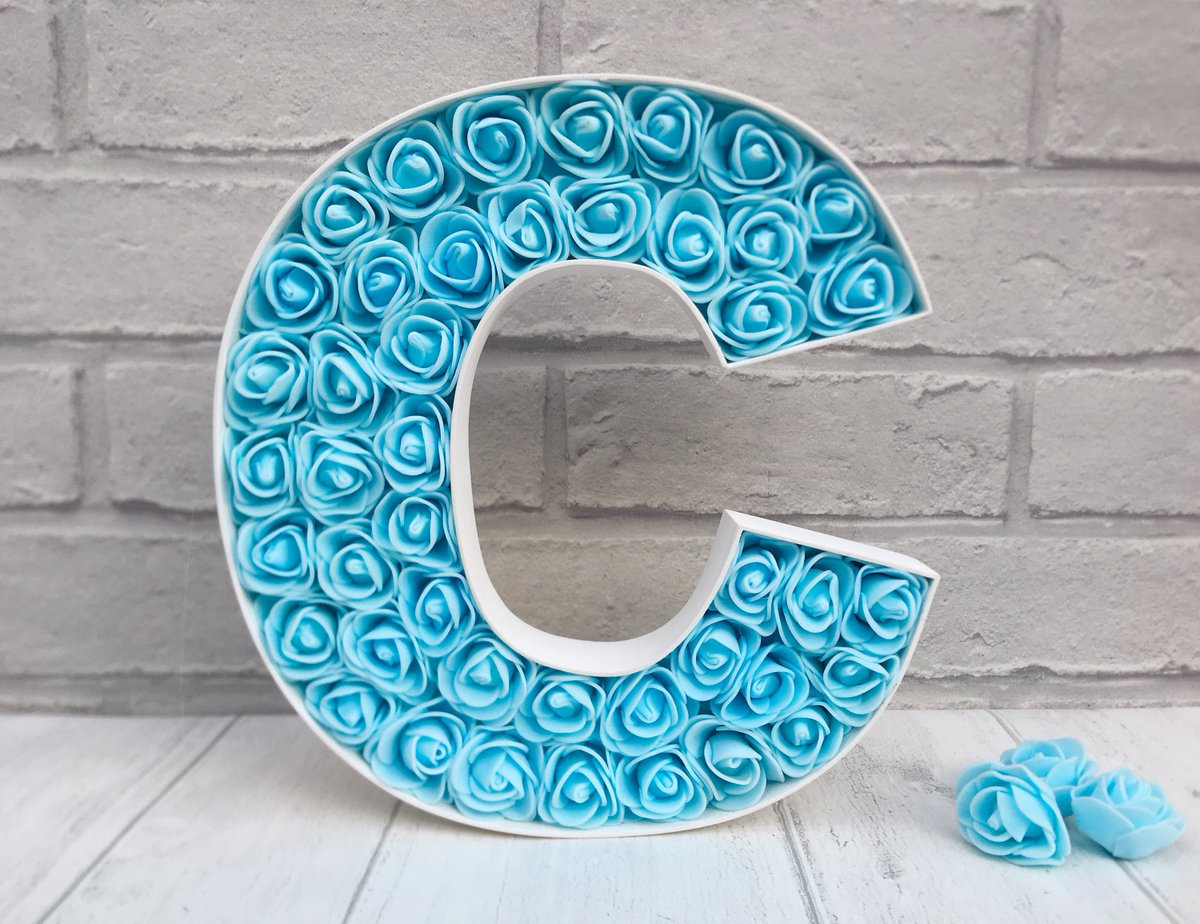Blue Bedroom Decor Light Sign For Baby Large Letter C Room Flowers Http Tuppu C26f8079 Etsymntt Epiconetsy