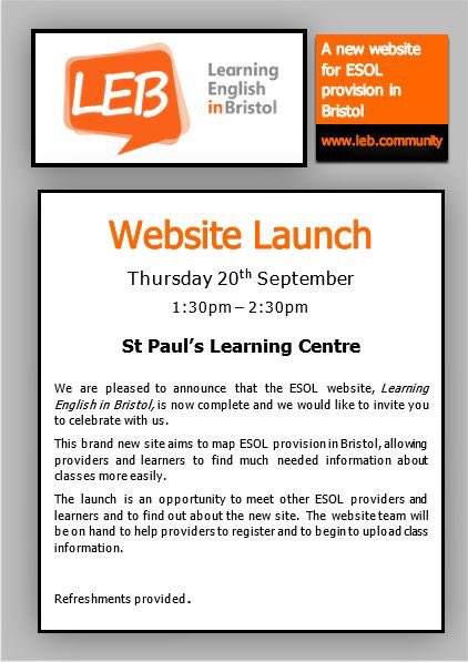 The new Learning English in Bristol website, which formed out of the hack  day 2 0c503ddb05