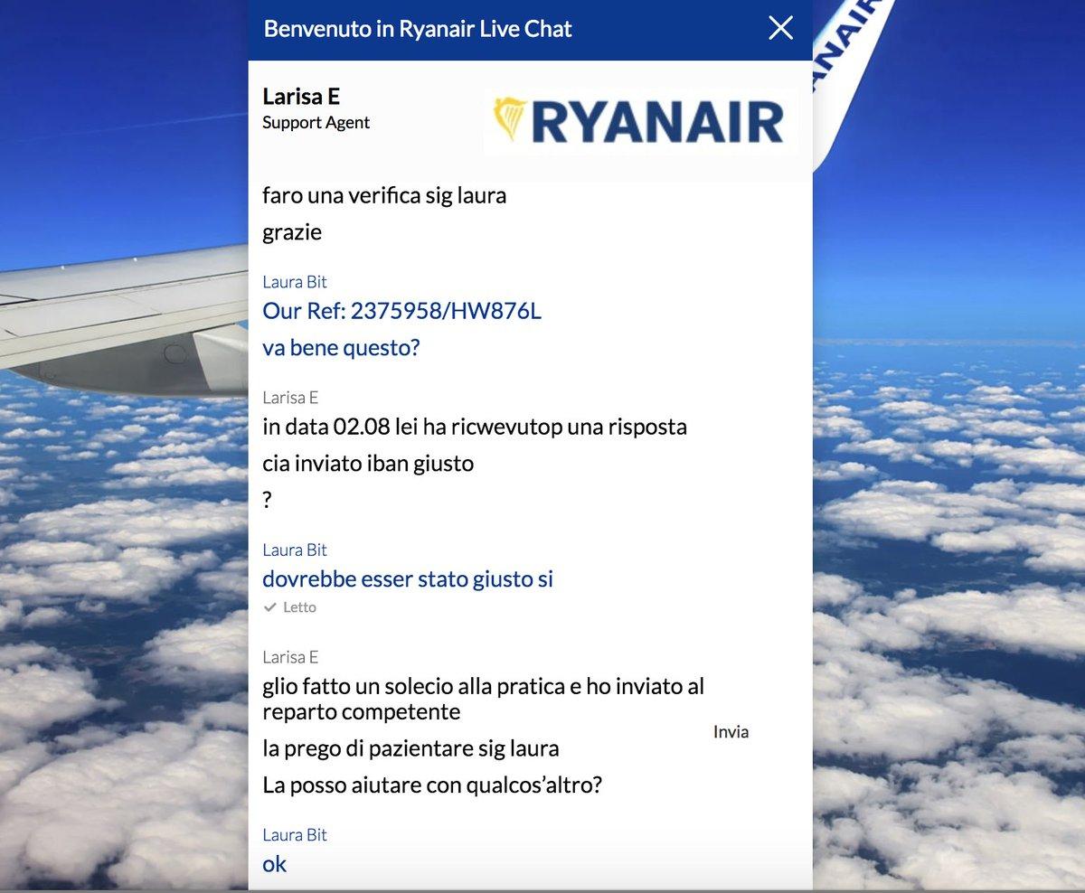 il mio italiano in questa chat non sarà perfetto, ma loro mi sembra esagerino #Ryanair  - Ukustom