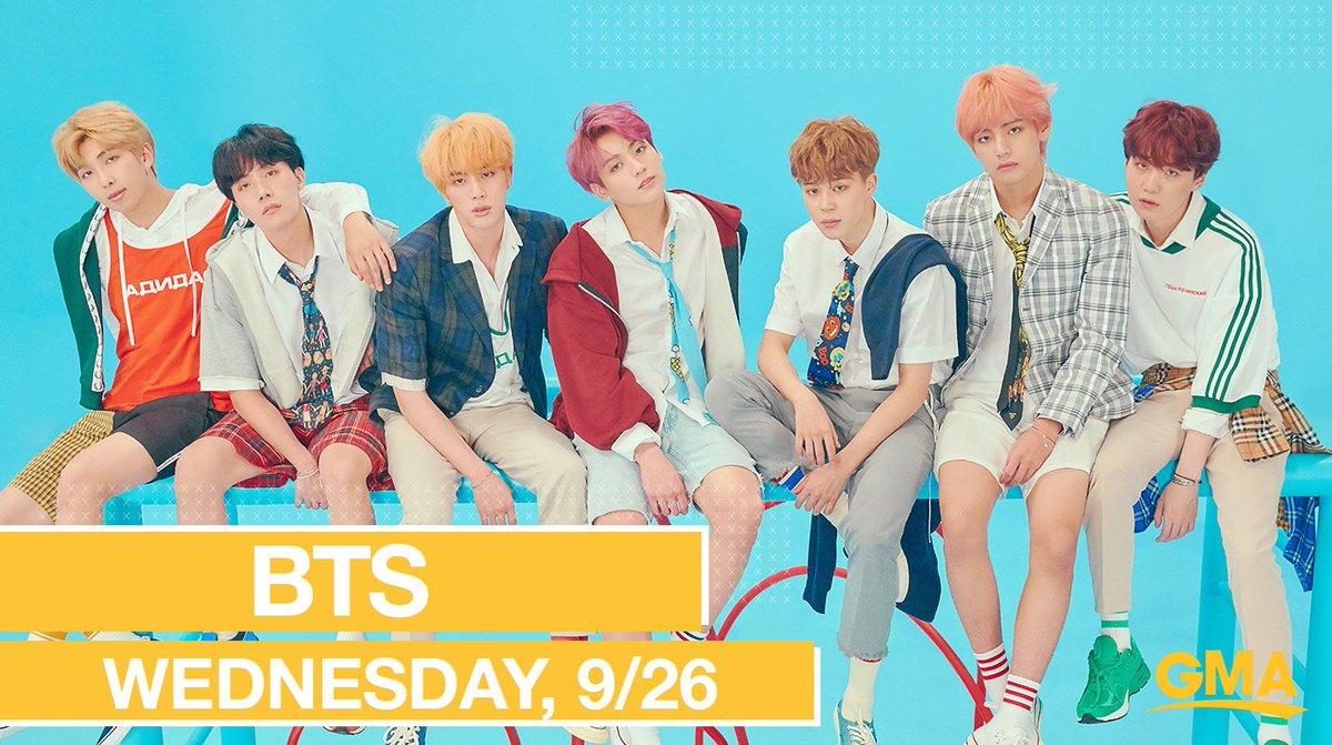NEXT WEDNESDAY ON @GMA: Global superstars @BTS_twt perform LIVE in Times Square!  #BTSarmy #BTSonGMA https://t.co/qwb7VRMWq4