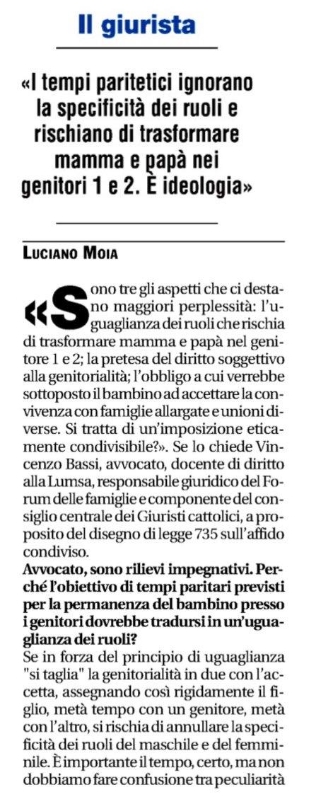 Su @Avvenire_Nei di oggi, il nostro responsabile per gli affari giuridici, @Vincenzobassi , espone il suo punto di vista circa il ddl sull' #AffidoCondiviso, in esame al Senato. E voi cosa ne pensate?  - Ukustom
