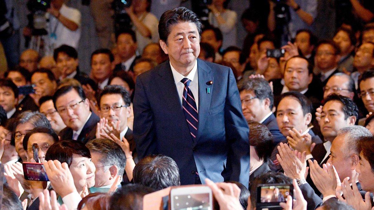 Japon : réélu à la tête de son parti, Shinzo Abe peut rester Premier ministre jusqu'en 2021  https://t.co/EpJa3wctK5
