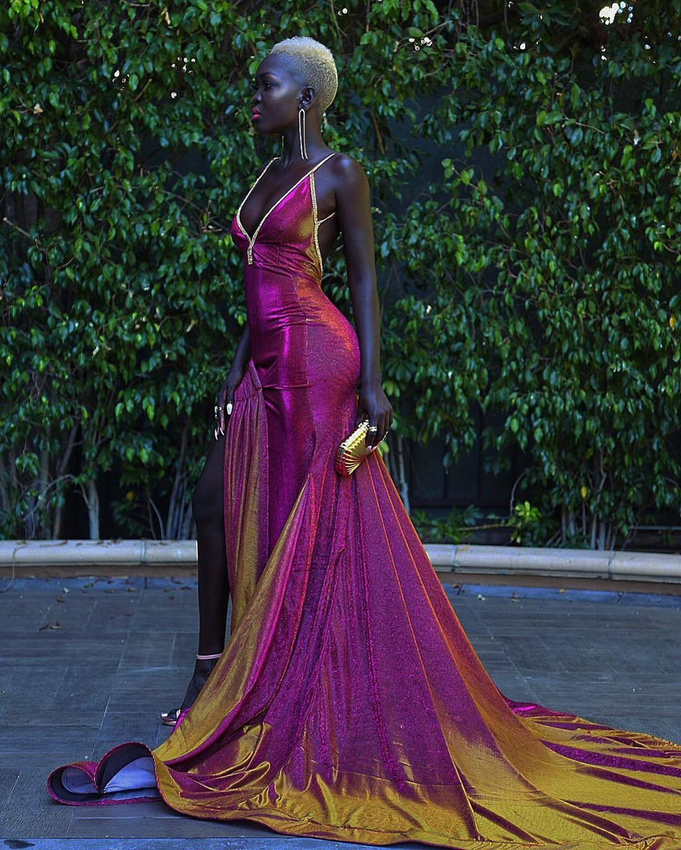 nyakim gatwech wore THIS to the emmys? and i didnt see ANYBODY talking about it?????