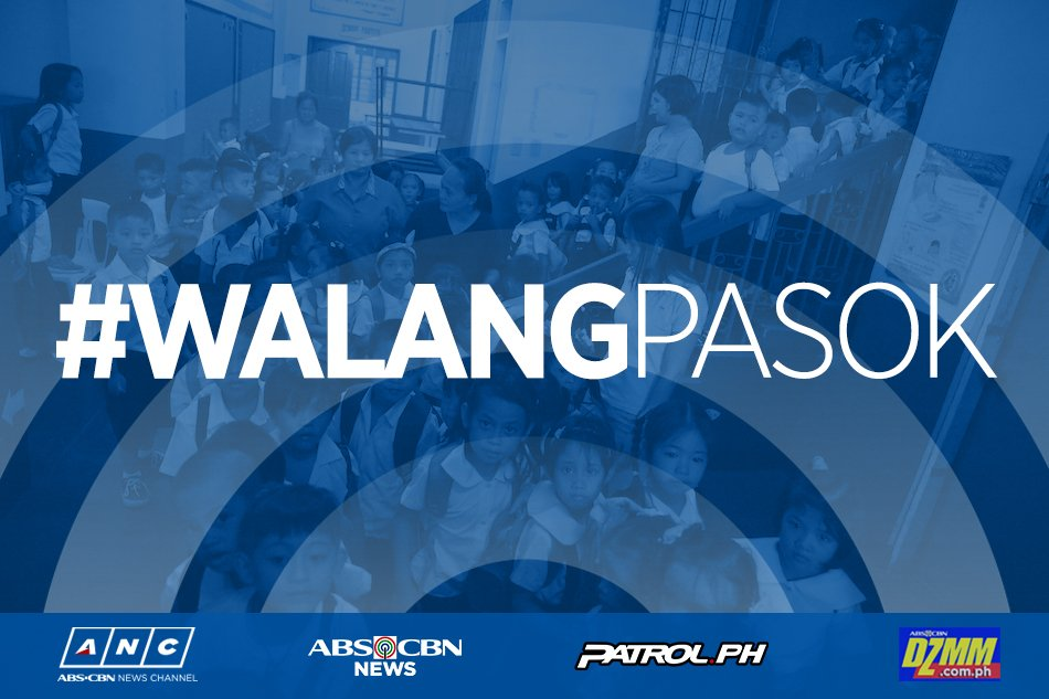 MANILA | #WalangPasok in all levels, public and private on Sept. 21, 2018 due to reports and information received from MPD that there will be numerous and massive demonstrations on the occasion of the 46th anniversary of the declaration of Martial Law. | via @JohnsonDZMM