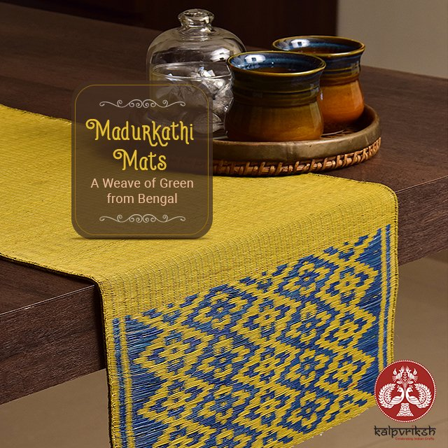 """Kalpvriksh on Twitter: """"#Madurkathi #Mats have been part of the  #BengaliCulture, since ages. Absolutely bio-degradable and eco-friendly  these floor mats will soothingly enhance the essence of green in your daily  lifestyle. These"""