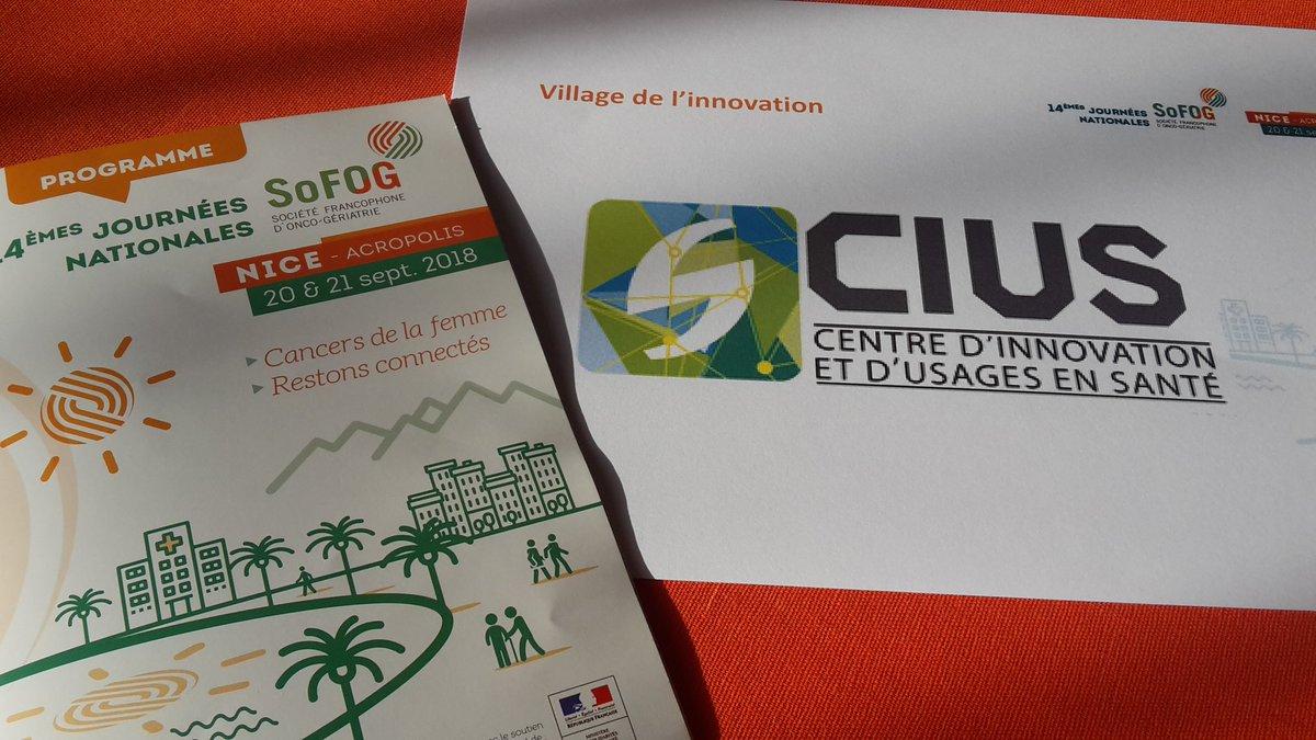 #CongressSoFOG le #CIUS est aux 14 ème journées nationales de la Société Francophone d'#OncoGeriatrie ce jeudi et vendredi à Acropolis - #Nice, en compagnie de @Nively_sas @Axyn_Robotique @docteur_smart @CoussinViktor  #cancersdelafemme #restonsconnectes @CCIcotedazur @CHUdeNic