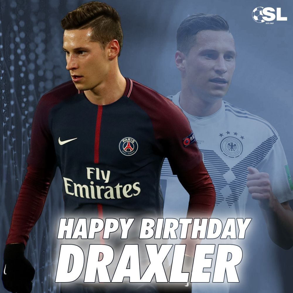 Julian Draxler is celebrating his 25th birthday today! Join us in wishing him a Happy Birthday! 🎂