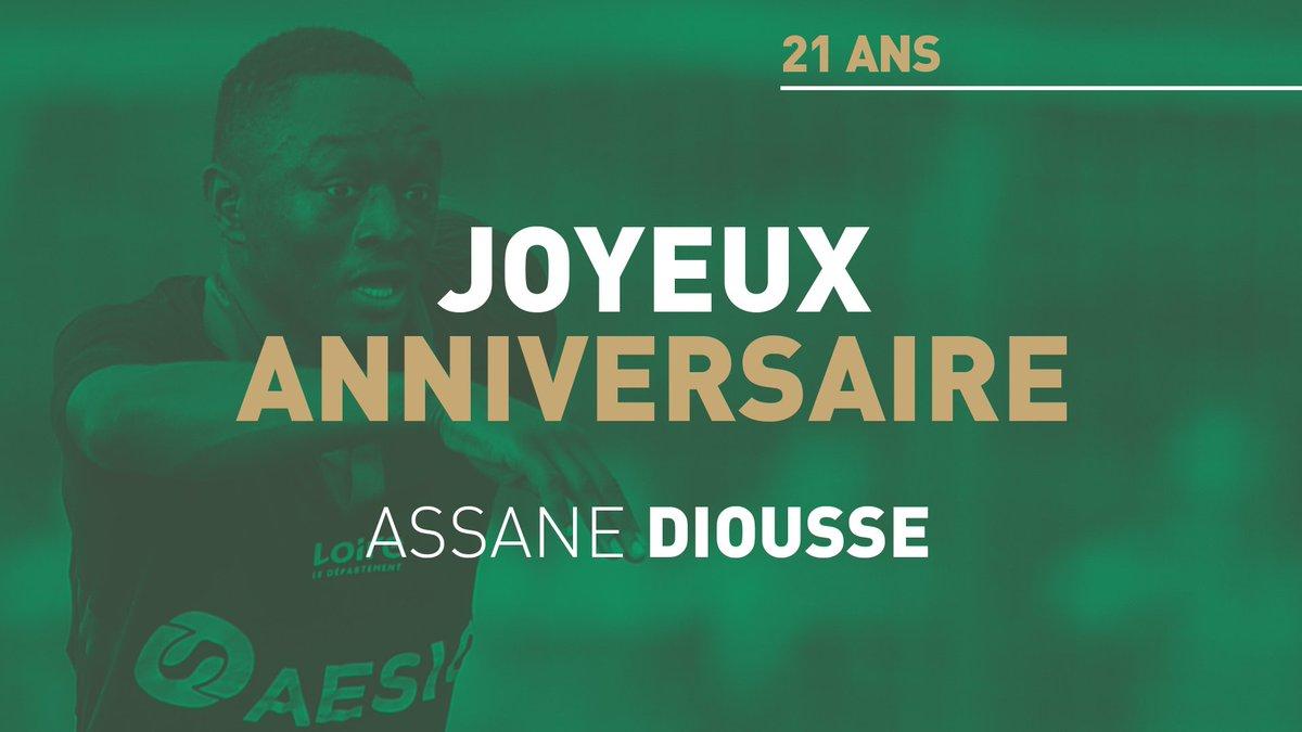 🎂 Joyeux anniversaire Assane #Diousse ! #ASSE L'international 🇸🇳 et milieu de terrain stéphanois fête aujourd'hui ses 21 ans 🎉