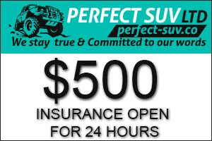 Image for PERFECT-SUV Insurance OPEN!