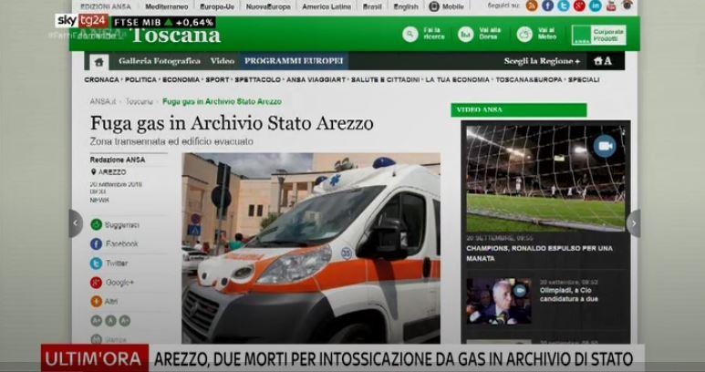 #UltimOra #Arezzo, due morti per intossicazione da gas in archivio di Stato #canale50 https://t.co/0kxapzNrby