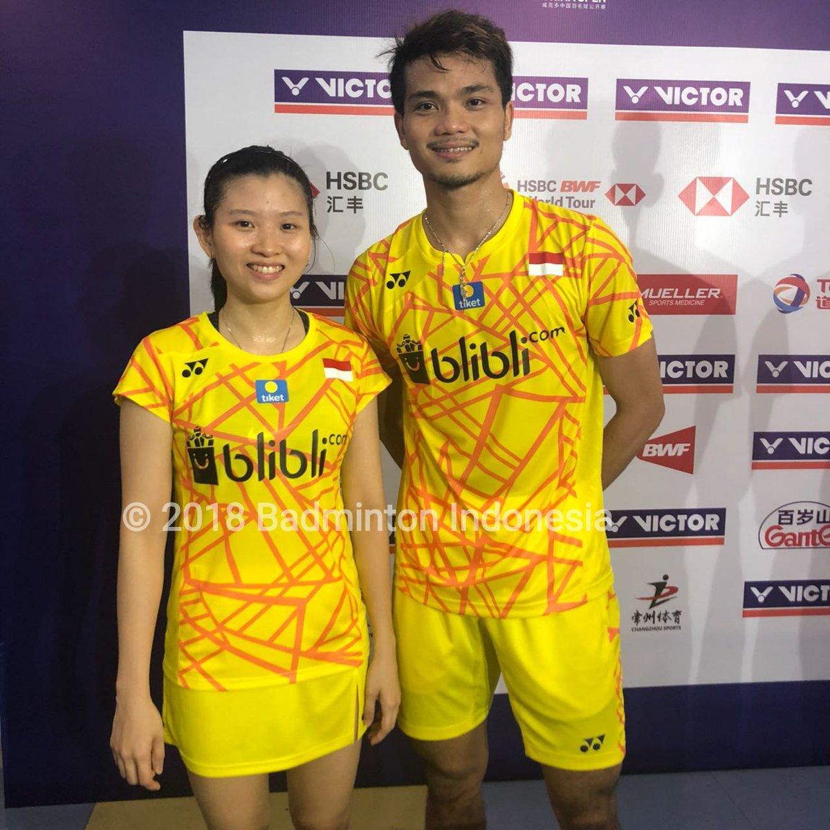 Pasangan ganda campuran Indonesia, Ricky Karandasuwardi/Debby Susanto melaju ke babak perempat final China Open 2018.