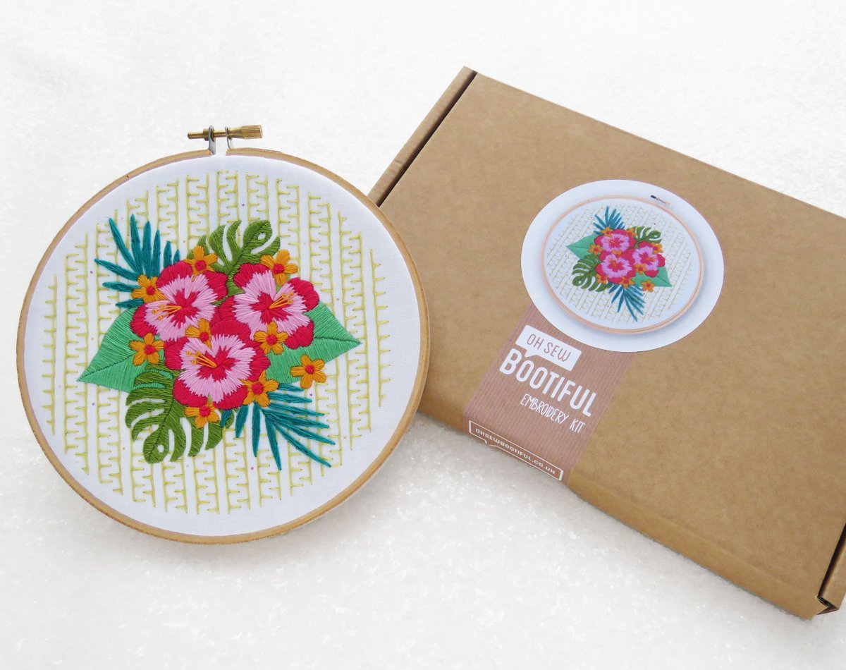 Oh Sew Bootiful On Twitter Modern Embroidery Kit Hibiscus