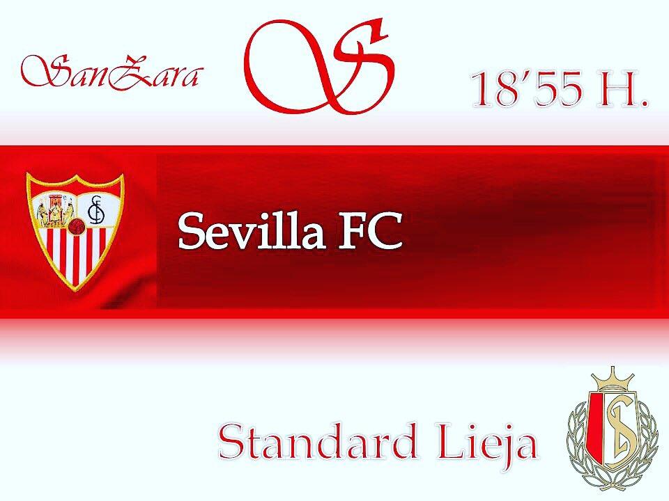 Hoy nos vestimos de blanco y rojo para ver el partido del SEVILLA FC. Aquí en SANZARA si vienes justito puedes tapear en nuestra Abacería hasta las 16.00h y luego la previa en SANZARA copas !!!! Para que te vas a complicar ?? 😂😂😂
