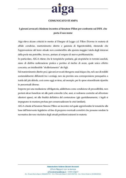 #DDLPillon  @giovaniavvocati chiede confronto  - Ukustom