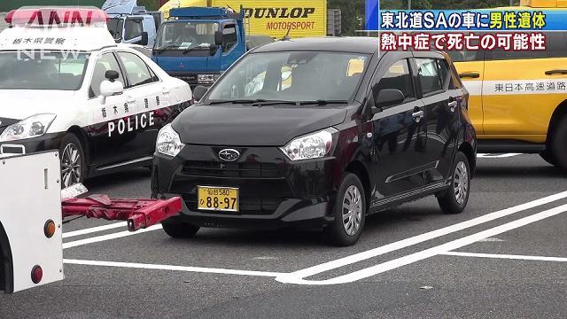 【熱中症で死亡か】佐野サービスエリアの車内に男性遺体、死後1週間以上が経過 https://t.co/YSsmHXioeq  車は仙台ナンバーで、遺体に傷はなく、死後1週間以上が経過しているとみられている。