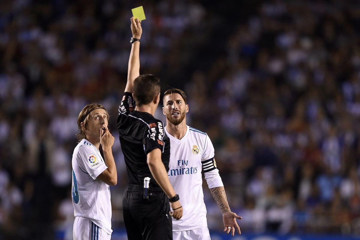 🇪🇸 Records currently held by @SergioRamos:  📕 Most red cards in @realmadrid history.  📕 Most red cards in @LaLiga history.   📒 Most yellow cards in @ChampionsLeague history.  🤷‍♂️ Unsurprising.