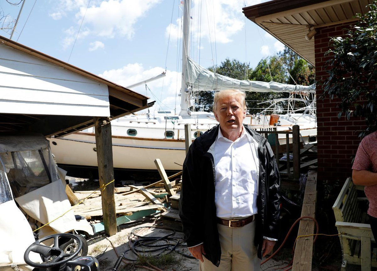 Trump tells Hurricane Florence survivor: At least you got a nice boat out of the deal https://t.co/AXJjVgrB6b