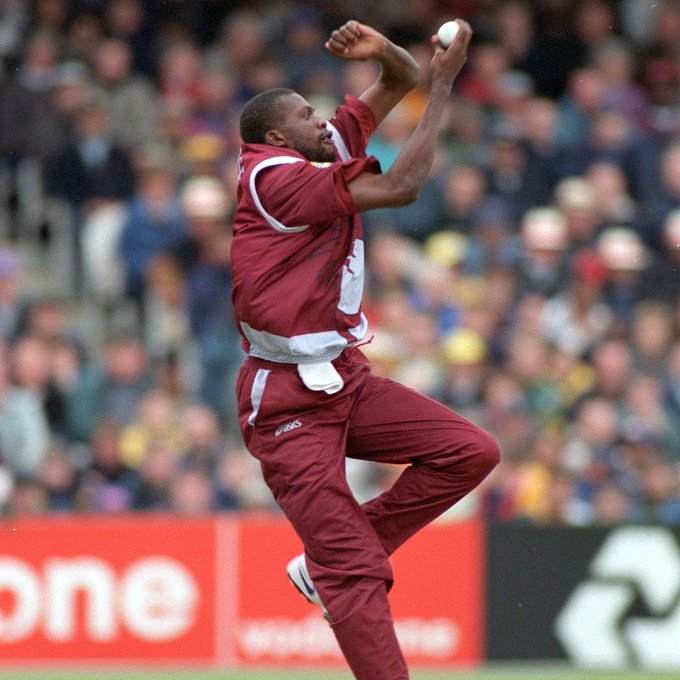 Happy birthday to legend, Sir Curtly Ambrose, who took 2  4  wickets at the World Cup!