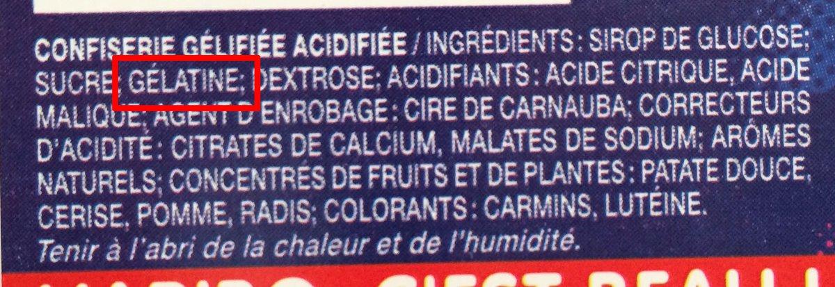 Savez-vous (vraiment) ce que contiennent vos bonbons et yaourts ? Certains sont composés de viande et les industriels ne le précisent pas.  Par exemple👇  Les Chamallows de Haribo = 🐖 Les Paniers de Yoplait 0% = 🐄 L'Authentique petit ourson guimauve de Cémoi =🐖 (ONG Foodwatch)