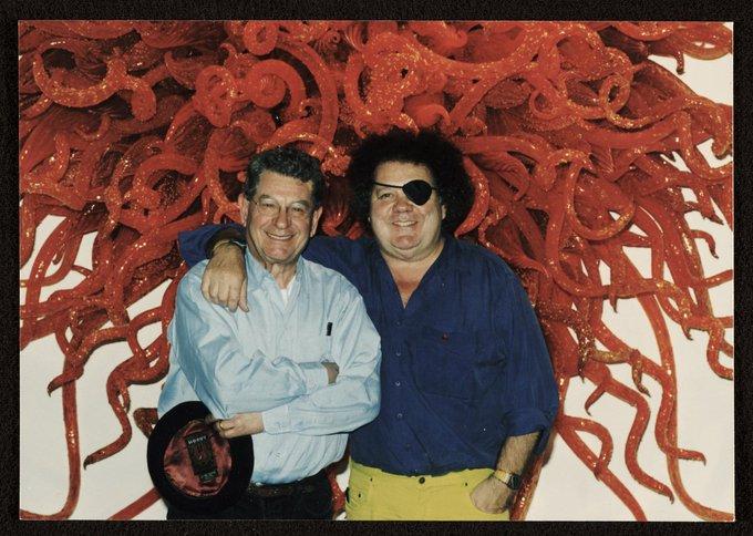 Happy birthday Dale Chihuly With Italo Scanga (left)  Photo: Jim Arkatov, 1998
