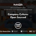 We're opening our doors during @HUBweek to give the Boston community a behind-the-scenes look at our company culture and how we're thinking about the #futureofwork. Join us for our #HWOpenDoors interactive event, Company Culture: Open Sourced on Oct. 9: https://t.co/TvmvZRlt2B