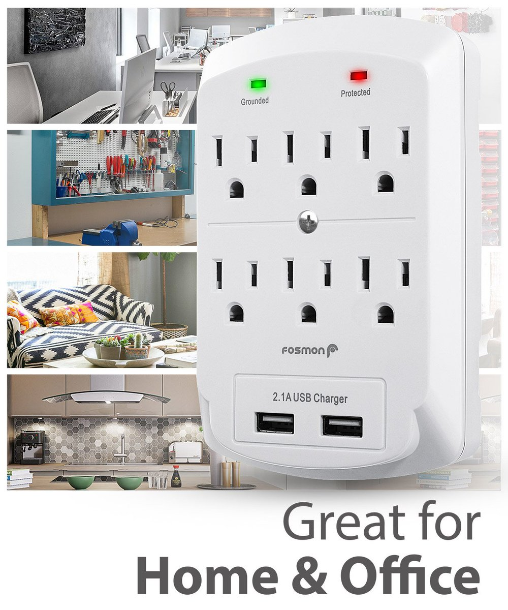 Grab yourself this surge protector which is capable of powering and charging up to 6 electronic devices with 6 AC power outlets and 2 USB charging ports. eBay: https://t.co/Fbv7dIz8Rv  #poweroutlet #usb #usbcharger #charger #acpoweroutlet #fosmon https://t.co/LMSN50N5iH