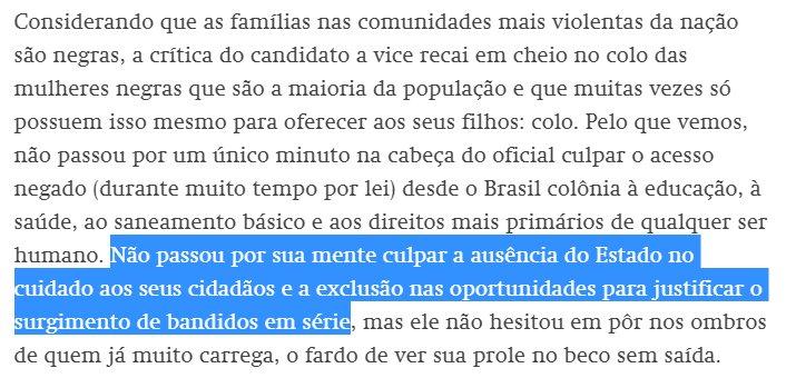 O racismo e a misoginia parecem ser a principal doença crônica nacional. https://t.co/gBOoJTOIWH por @cruz_elianalves