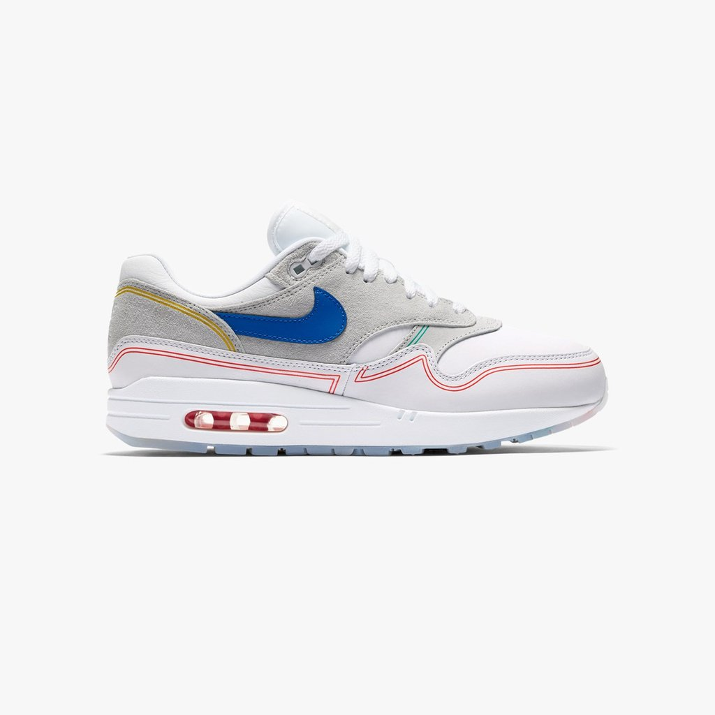 32d03d6e1a The Nike Air Max 1 Centre Pompidou is now available online and in-store ( Paris, London, Berlin, Sthlm) at Sneakersnstuff. https://bit.ly/2xuJBKQ # airmax1 ...