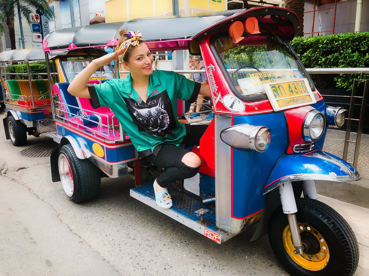 Urvashi Rautela  - Love more th tuktuk thailand twitter @urvashimrautela