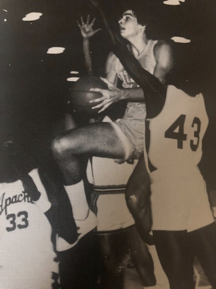Throwback Thursday! A young Bilastrator drawing the triple team against Centennial High School, 1980. Impressive.