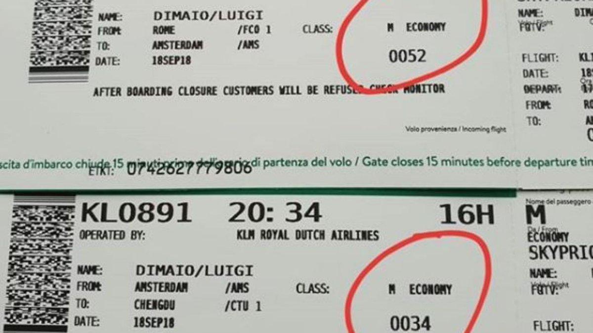 """Di Maio in Cina con un volo di linea: """"Classe business? No, economy"""" #LuigiDiMaio http://mdst.it/02a3164312/  - Ukustom"""