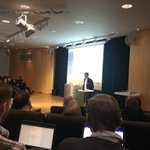 Image for the Tweet beginning: Jens Andreas Pettersen presenting the