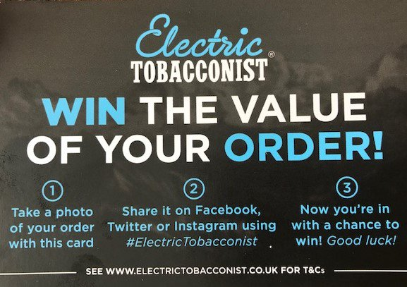 electrictobacconist hashtag on Twitter