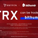 Image for the Tweet beginning: 🔊@BithumbOfficial has completed #TRON mainnet
