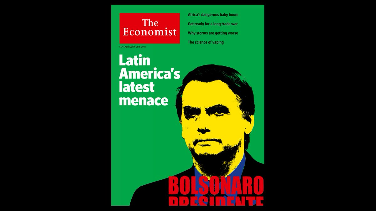 Brazil is in desperate need of reform, but Jair Bolsonaro would make a disastrous president. Our cover this week https://t.co/3IGmJT3Sbw