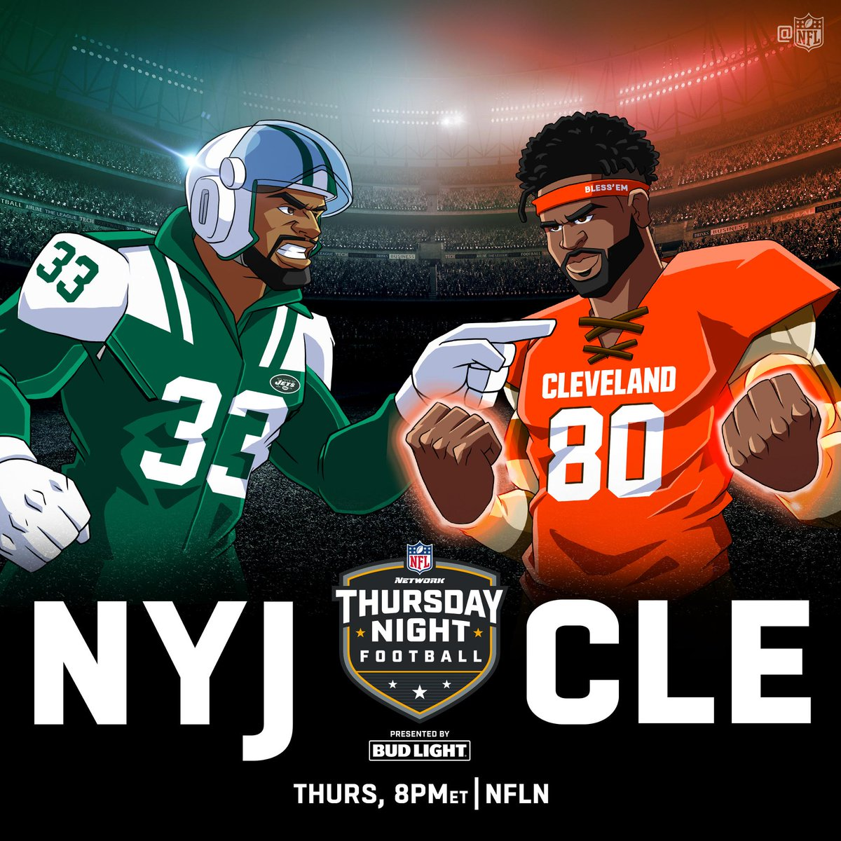 .@nyjets vs. @Browns.  Thursday Night Football only on @nflnetwork (8pm ET)!  #TNF #NYJvsCLE<br>http://pic.twitter.com/BWmw5yC7IE