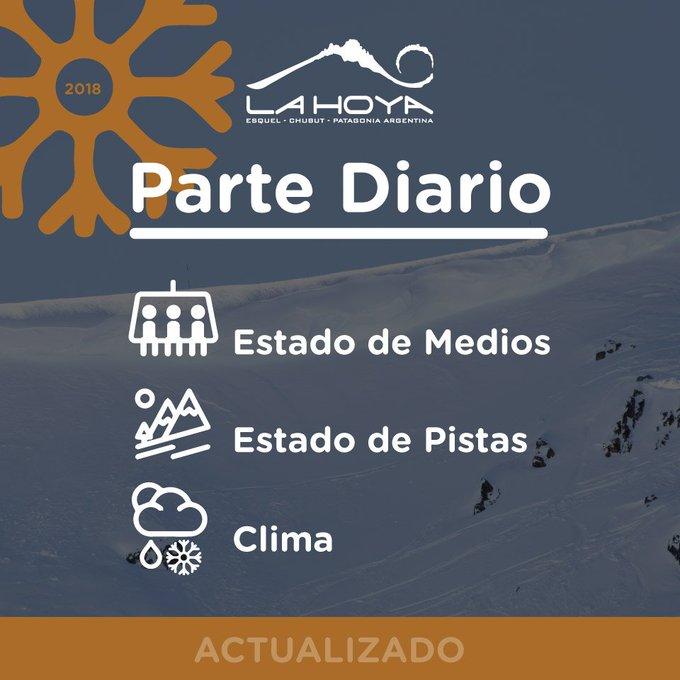 Parte diario 20/09/2018 -🕘-😀- 🌬️+🎿+🏂+🚐=subir a disfrutar Medios condicionados por incremento del viento 👉 La info en detalle ✋RENTAL en Base. 🍔y🚾 en Base y cotas 1650 y 1850 (para esquiadores) . ⛷️Respete la cartelería y use el casco Foto
