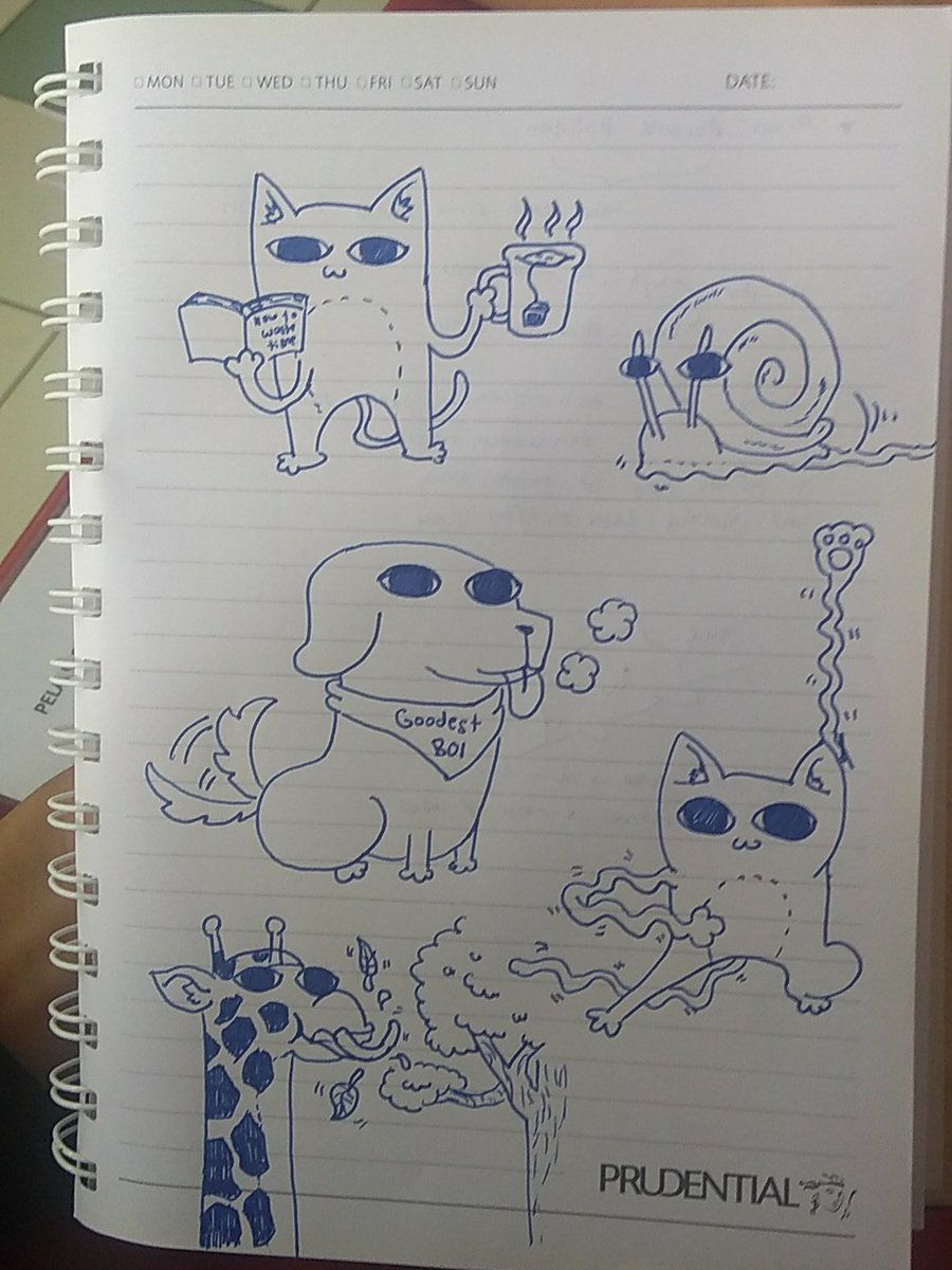 Today's bored-during-lectures doodles are inspired by @Ketnipz