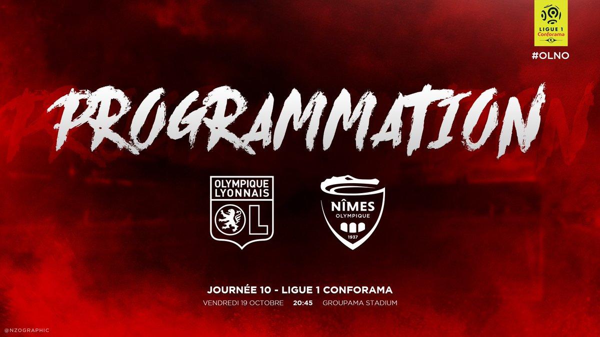 10EME JOURNÉE DE LIGUE 1 CONFORAMA : OLYMPIQUE LYONNAIS / NÎMES OLYMPIQUE  Dnip_XOX0AAI0QS