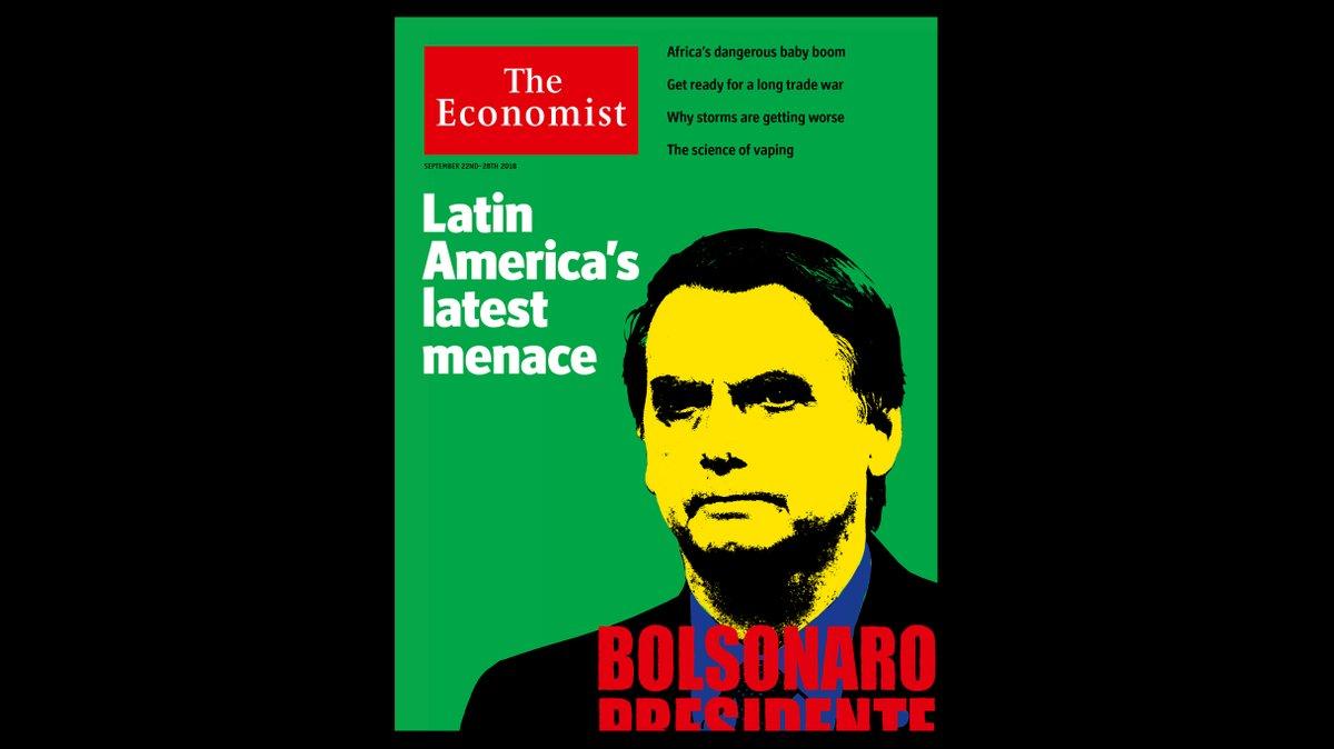> Ca@EstadaoPoliticapa da 'The Economist': Bolsonaro é ameaça mais recente da América Latina e seria um presidente desastroso https://t.co/1mYtUpegby