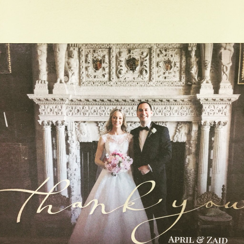 We love a 'thank you'! Especially with such a gorgeous picture as well! Thanks to Fulton Photography #weddingday #gettingmarried #summerwedding